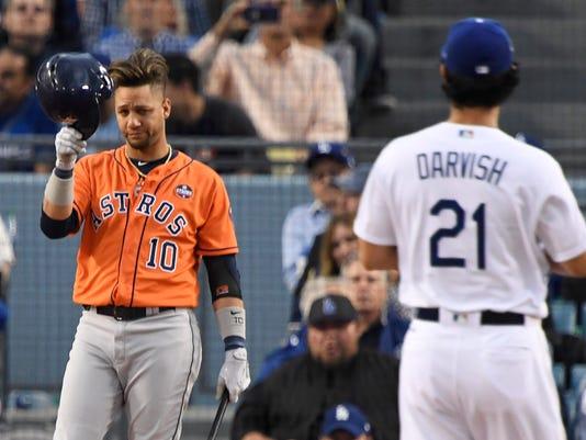 USP MLB: WORLD SERIES-HOUSTON ASTROS AT LOS ANGELE S BBN LAD HOU USA CA