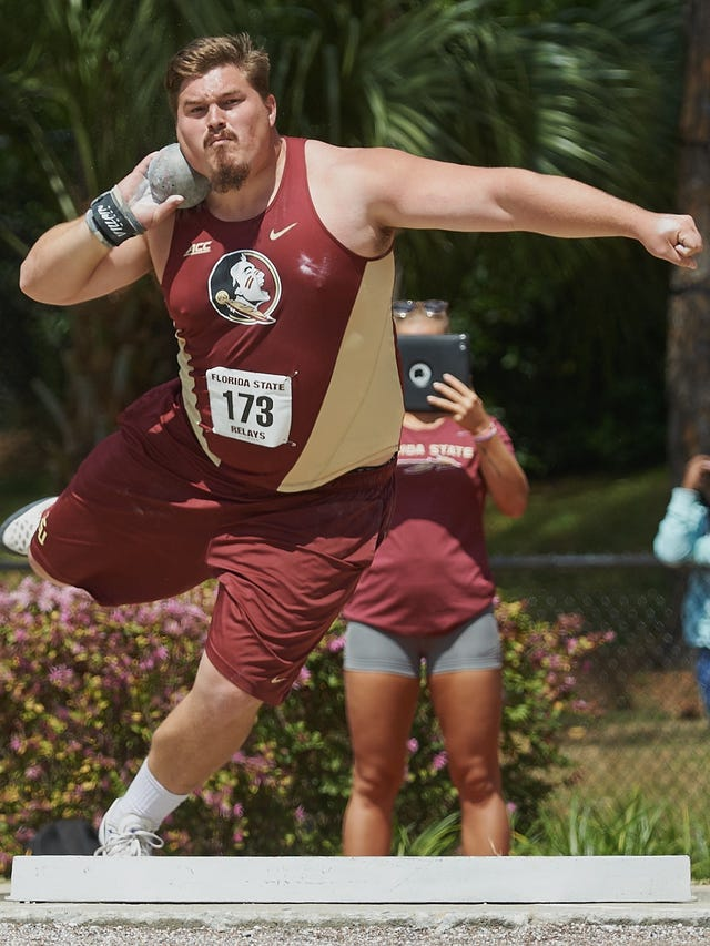 cheap for discount b7bcf 1d40a Former FSU shot putter Droogsma embracing chance in NFL with ...