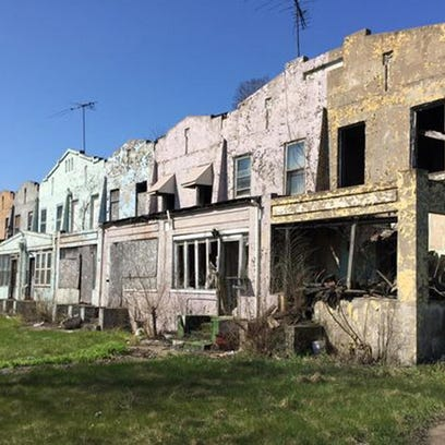 Blighted houses in Gary, Ind.