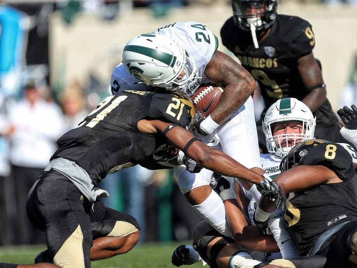 Michigan State Spartans running back Gerald Holmes