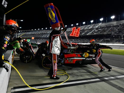 Danica Patrick Denny Hamlin Collide In Second Duel