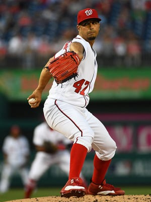 Gio Gonzalez last pitched at Dodger Stadium in Game 3 of the 2016 NLDS.