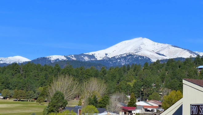 A late March snow left Sierra Blanca Peak and the mountains around it with a substantial coat of snow.