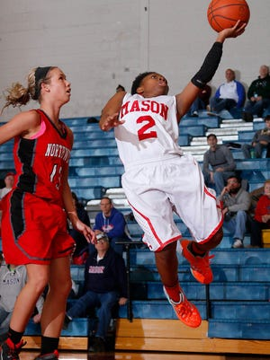 Mason's Jalysa Bard (2). shown in a game earlier this week, was one of Friday's standouts.