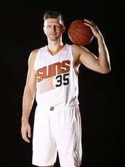 Mirza Teletovic during Phoenix Suns at media day on