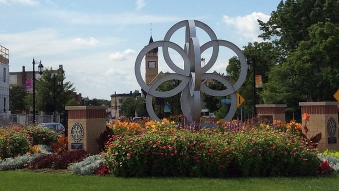 The city of Oconomowoc has incorporated the five o's of its name into the town's logo and branding.