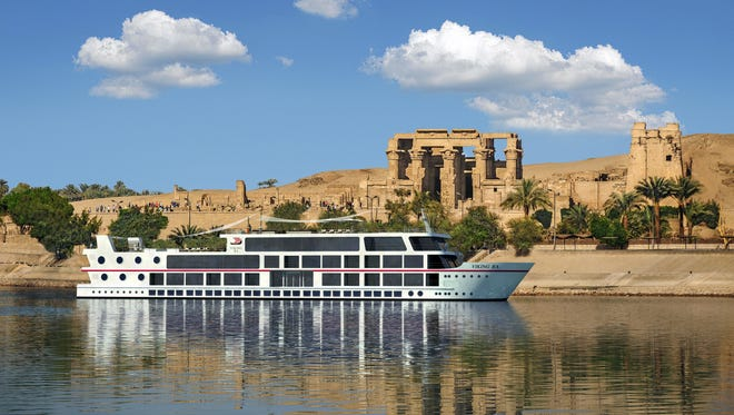 Shown here in an artist's drawing, Viking River Cruises' new ship on the Nile, Viking Ra, will be an intimate, all-suite vessel that carries just 48 passengers.