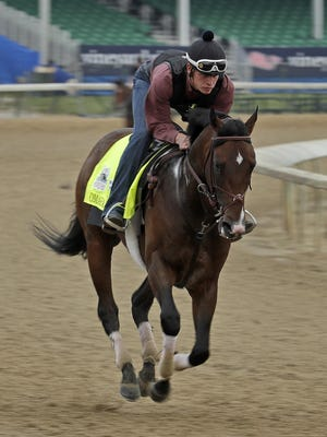Omaha Beach is the 4-1 early favorite for the Kentucky Derby after drawing the No. 12 post position on Tuesday.