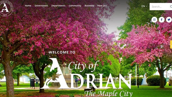 The city of Adrian has a new website with a number of new features and quick links on its home page. The city's web address is adriancity.com.