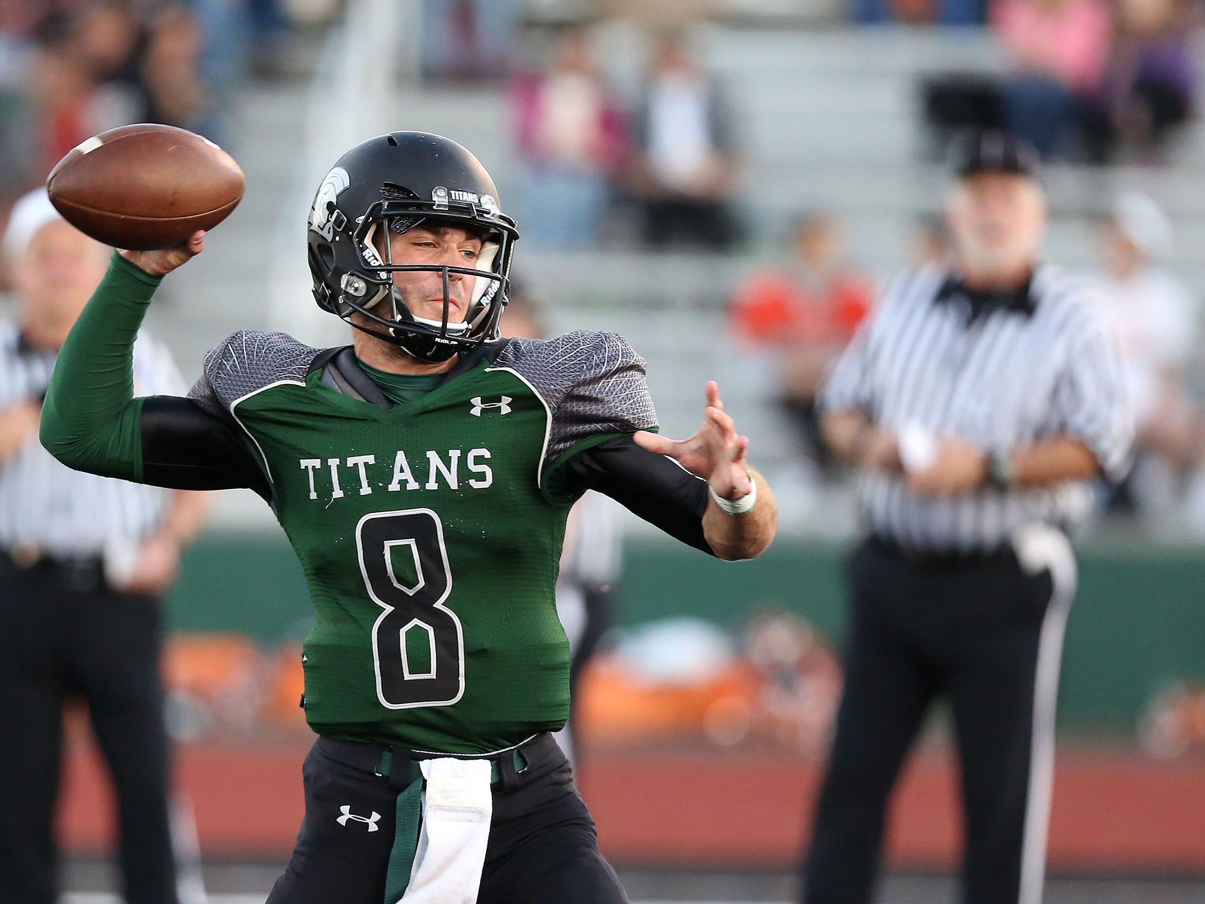 West Salem Titans quarterback Cade Smith