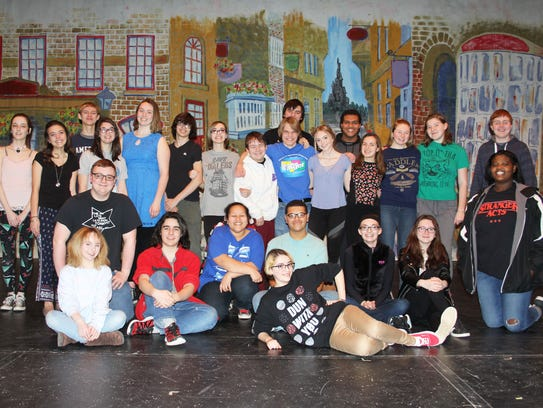 The cast of Silk and Cinders at a recent rehearsal