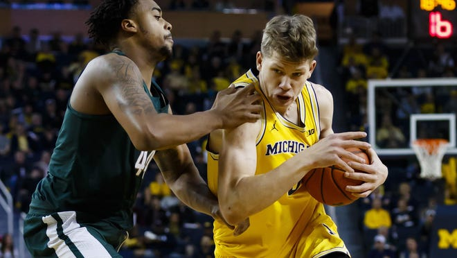 Moritz Wagner and Michigan throttled the Spartans last February in Ann Arbor. The teams meet again Saturday in East Lansing.
