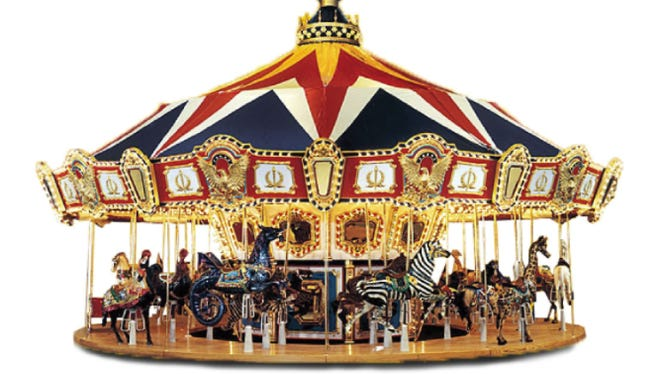 Arnolds Park Amusement Park is adding a new 36-foot carousel to its offering this summer, a whole 8 feet larger than its current carousel.