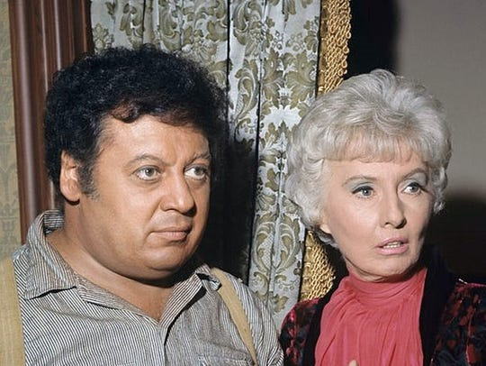 Marty Allen and Barbara Stanwyck