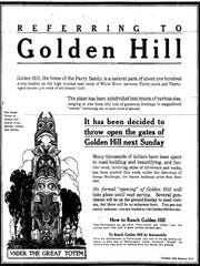 The Golden Hill neighborhood was established to cater to Indianapolis' most prominent families. An ad for the neighborhood ran in a 1914 edition of IndyStar.