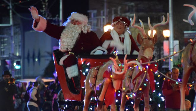 Santa and Mrs. Claus arrived on a reindeer float during the annual Main Street Vineland Christmas parade on Saturday, Nov. 25.