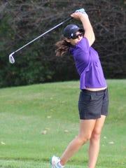 Bloomfield Hills junior Mikaela Schulz was individual