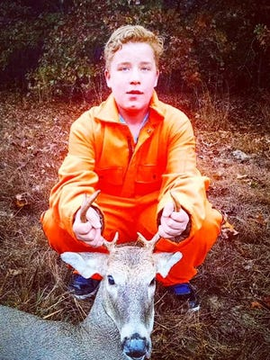 Brandon Farmer,13 from Fair Play, shot his first deer during the statewide Youth Deer Weekend Hunt, Oct. 31-Nov.1.