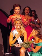 Tara Jo Pizer, 23, is crowned Miss Wisconsin Central 2016 on Saturday night at the Goodrich Little Theatre in Fond du Lac.