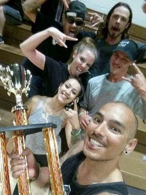 The Scorpions, headed by Scorpion Tattoos' James Flores, took home first place bragging rights at the Ecoservants Dodgeball Tournament Saturday.