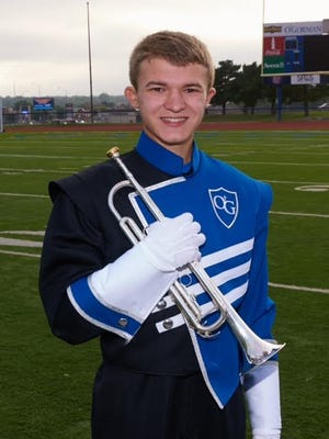 Nathaniel Pekas, an O'Gorman High School student from Sioux Falls, will play in the 2017 Rose Parade in California.