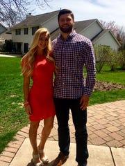 Vince Biegel and his fiancee Sarah Panzenhagen will