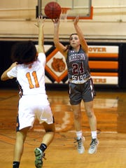 Morristown-Beard junior guard Bridget Monaghan hits