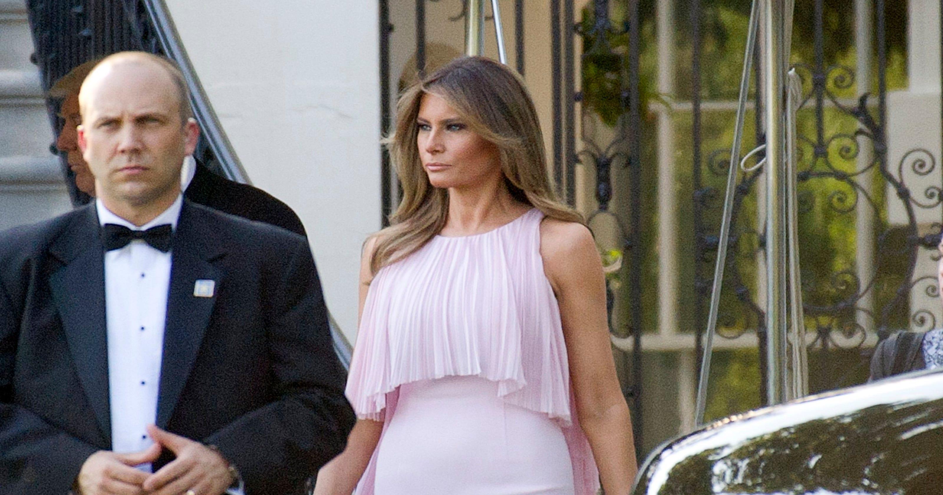 First lady fashion  Melania Trump wears pink to Washington wedding f57cd5c17