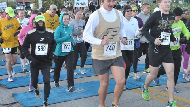 The eighth annual Purdue Boilermaker Half Marathon starts at 8 a.m. Saturday, Oct. 19, 2019, outside Ross-Ade Stadium in West Lafayette.