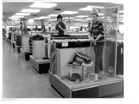 JC Penney's department store during the 1960s at Chris-Town