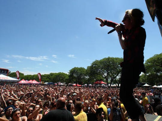 We the Kings at the 2014 Vans Warped Tour at the PNC