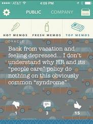 Employees use Memo, a virtual watercooler, to gripe