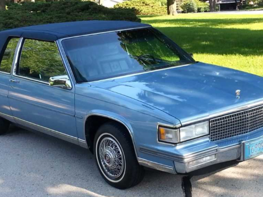 A 1988 Cadillac Coupe deVille is the beloved car of beloved Father Wally at St. Alphonsus Parish, Greendale.