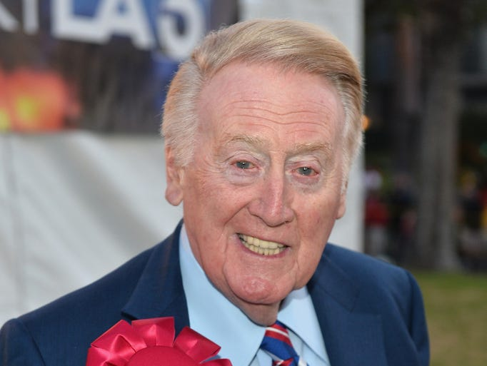 Vin Scully, 86: Legendary baseball broadcaster, does play-by-play for the Los Angeles Dodgers.