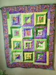 Barbara Wiggins' quilt be be part of the Quilters Unlimited's