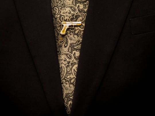 Maricopa County Sheriff Joe Arpaio frequently wore this tie pin while in office. If only he had more reverence for the real thing.