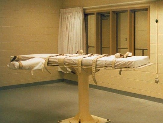 The execution room at the James T. Vaughn Correctional