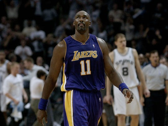 Karl Malone (11) teamed with John Stockton in Utah as perennial contenders. Remember that 'super team' was a part of with the Lakers? It wasn't that super.