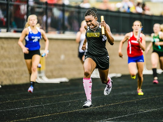 Tra'chele Roberts Division 2 state track