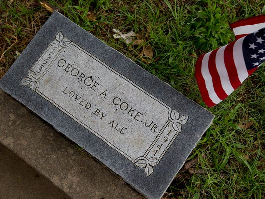 A gravestone for George Anderson Coke Jr. is ready