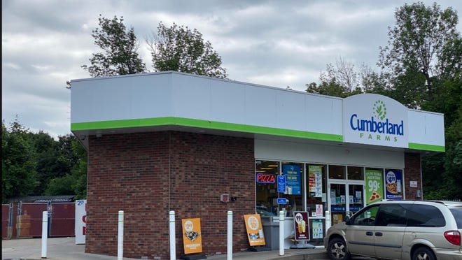 The Cumberland Farms store on Route 9 in Leicester, near center of town, where a store clerk was shown a gun by a customer.