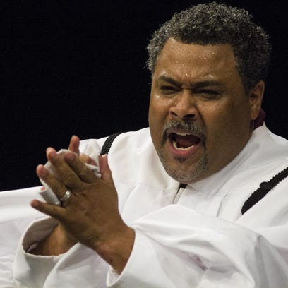 08 Gregory Rahming as Louis Coleman in in the church pulpit. (KyBlackRep p