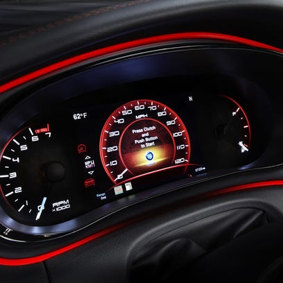 2013 Dodge Dart, speedometer shot. Credit: Dodge.