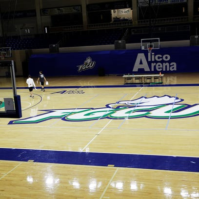 Students walk through Alico Arena at FGCU on Wednesday,