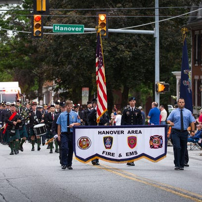 Members of the Hanover Area Fire & EMS take part in