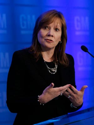 General Motors chief executive officer Mary Barra, shown at a news conference, is on defense over fatalities related to ignition switch flaws..