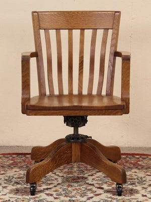 The wooden office chair of the 19th century has changed with technology. The base became iron, the chair could tilt and swivel, and the back could lean. But it all was replaced when the mesh-backed chair was introduced in 1994. This antique wooden chair is $695 at Harp Gallery (Harpgallery.com) in Appleton, Wisconsin.