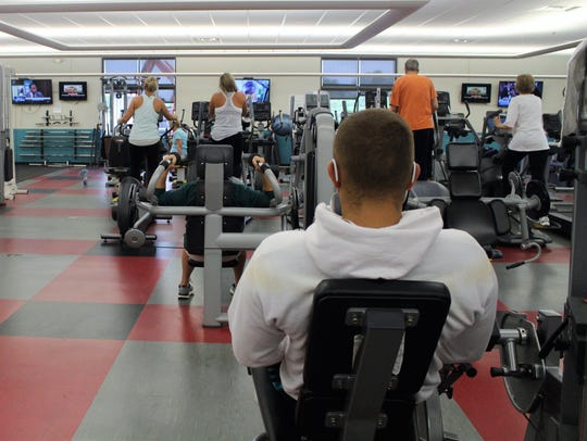 Members of the Marion Family YMCA conduct their daily