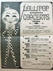 Lolli-Pop concert series flyer.