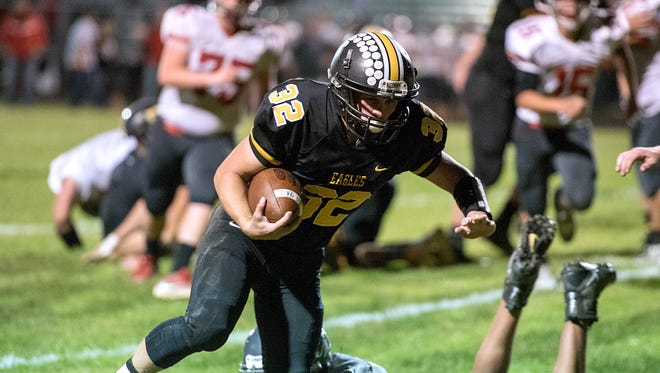 Colonel Crawford's Dylan Knisely rushed for 138 yards and a touchdown against Mount Gilead.